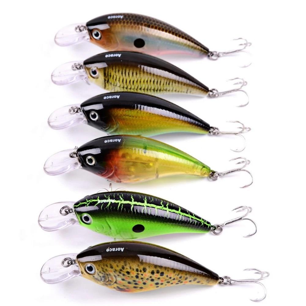 1pcs 6 CM Hard Metal Fishing Lures Small Minnow Bass Crank Bait Tackle Hook.
