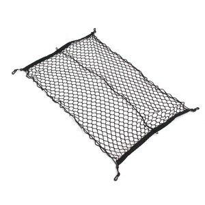 Image 2 - 100 センチメートル × 70 センチメートル黒ナイロン車のトランクネット荷物収納オーガナイザーバッグリアテールメッシュネットワーク 4 フック