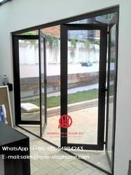 Межкомнатные перегородки для комнат Звукоизолированные изолированные алюминиевые двустворчатые двери, двустворчатые двери для гостиной