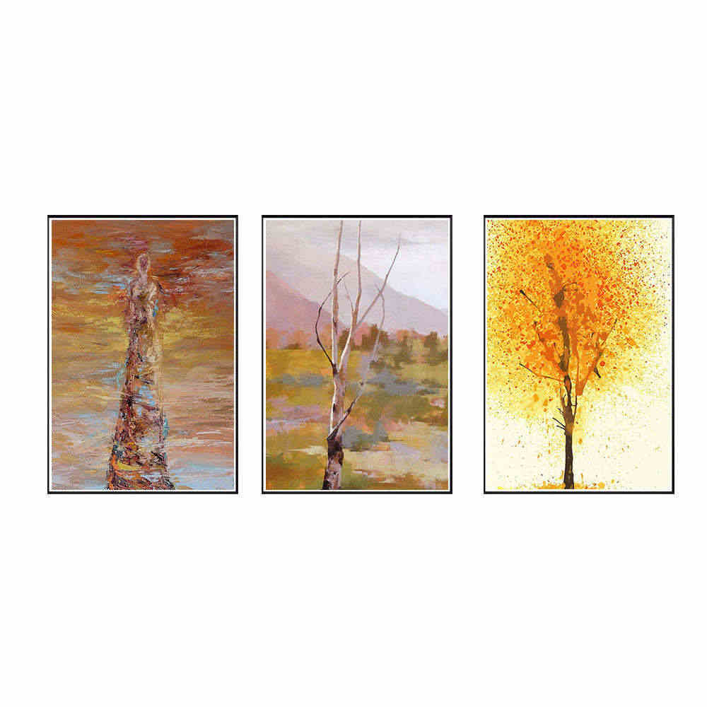 Oil Painting Frameless DIY Painting Home Decor Nature Landscape Painting Modern Picture Home Decoration Accessories