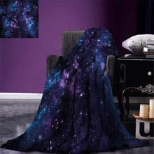 Couverture de jet despace ciel mystique avec des grappes détoiles Cosmos nébuleuse paysage céleste œuvre couverture en microfibre chaude