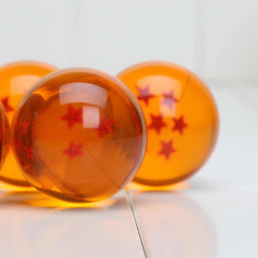 3.5 cm 1 Adet dragon topu 1 2 3 4 5 6 7 Yıldız Plastik Topları Japonya Anime aksiyon figürü oyuncakları Kristal top çocuklar için hediye