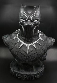 Бюст Железный человек и черная пантера Марвел 1
