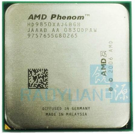 AMD Phenom X4 9850 HD9850XAJ4BGH 125W Quad-Core DeskTop 2.5GHz CPU Socket AM2+/940pin