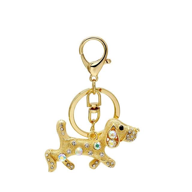 Daisies Crystal Dog Keychain Key Chain Ring Alloy Animal Dachshund Pet Key  Chain Key Holder Women s 56997d9bd0