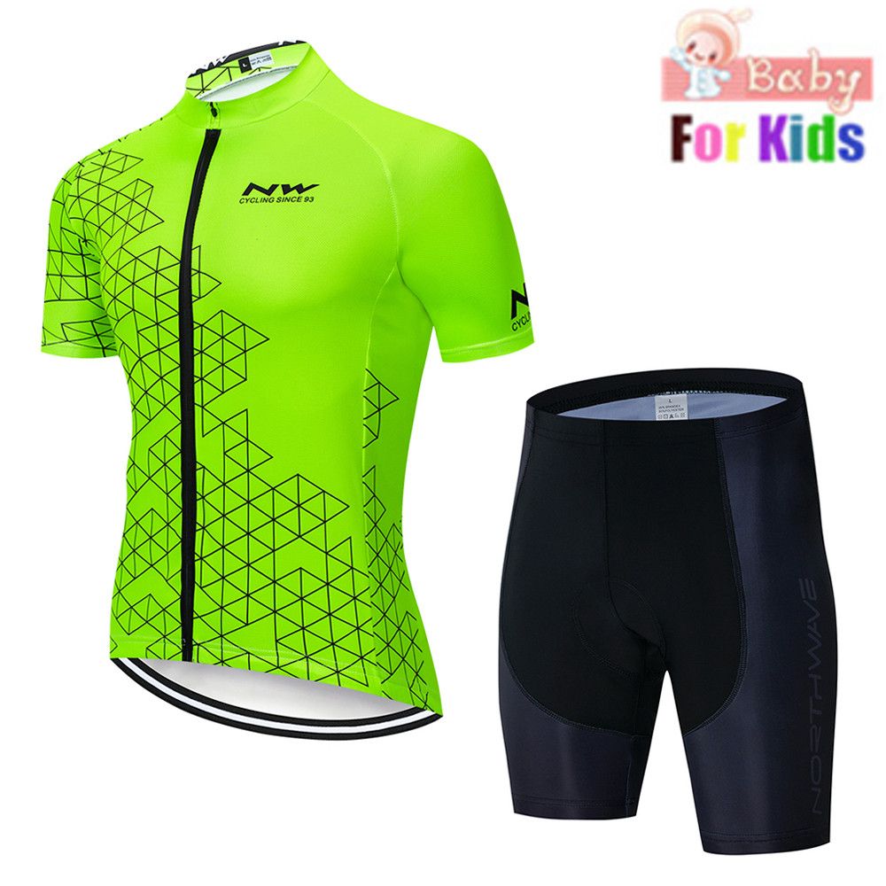 2019 new Kids Cycling Jersey Set etixx Children Cycling Clothing Summer Bike Jersey Quick Dry Bicycle Jersey Suit Fluorescence