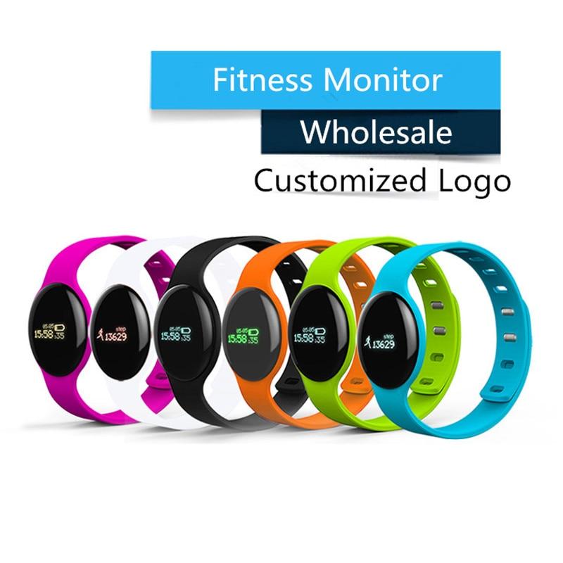 imágenes para Banda de Frecuencia Cardíaca H8S Fitness muñequera reloj contador de Calorías reloj pulsera para IOS y Android smartphone