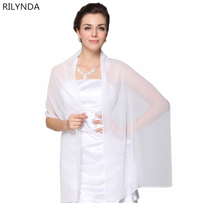 Wholesale Cheap Wedding Jacket Wraps Bolero Chiffon Women Cap Wrap Shrug For Evening Dresses 2018 In Stock