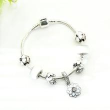 White Women's Charm Bracelet