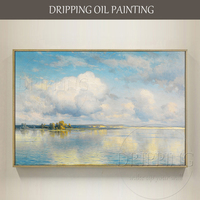 Top Artist Hand painted High Quality Lake Oil Painting on Canvas Reproduce Russian Artist Konstantin Kryzhitsky Oil Painting