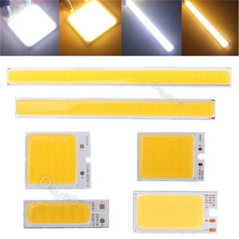 1.8-6W COB LED Strip Light Lamp Bulb Chip Bar Light Pure White Warm White Home Bulb for DIY Car Auto Light Source DRL Lamp DC12V 5w 7w cob led e27 cob ac100 240v led glass cup light bulb led spot light bulb lamp white warm white nature white bulb lamp