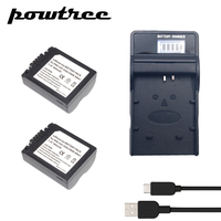 2Packs 7.2V 900mAh CGA S006 Li ion Battery+1Port BatteryCharger with LED for Panasonic CGR CGA S006E S006 S006A DMW BMA7 FZ7 FZ8