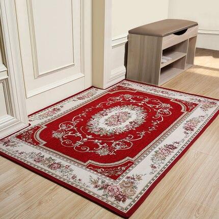 Tapis de sol Rectangle de tapis de porte de tapis de fleur de Style européen