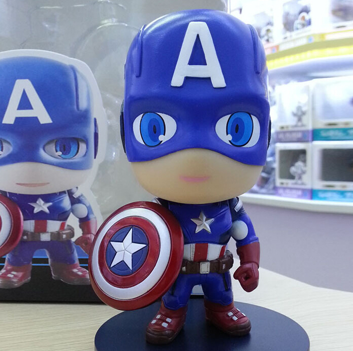 10pcs/set 12cm Captain America Action Figures PVC brinquedos Collection Figures toys for christmas gift AnnO00304A sonny angel mini figures easter series 6pcs set toys christmas