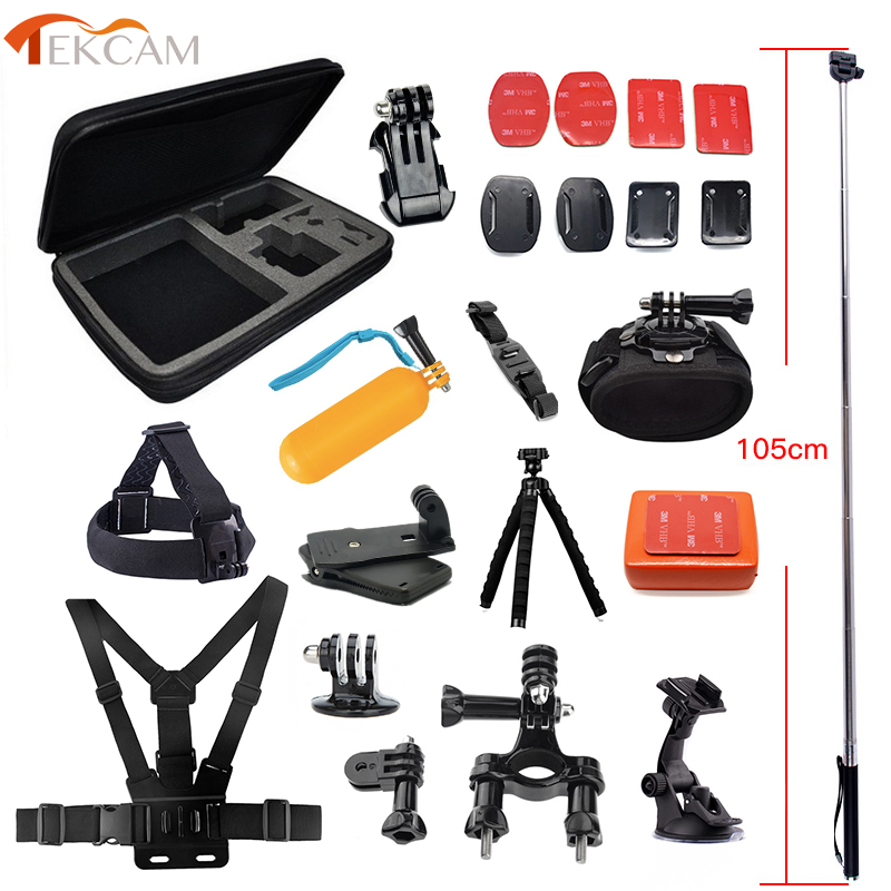 Tekcam Accessories For Go Pro Accessories For Gopro Hero 5 Hero 6 Gopro Fusion Camera Mount For  Xiaomi Yi 4k Yi Lite