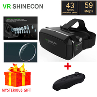 VR Shinecon Box Vrbox Casque Video 3 D Gerceklik Google Cardboard Virtual Reality Goggles 3D Glasses