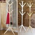 NOVO! estilo europeu casaco cabide 100% árvore de madeira garfo racks stand, 8 ganchos de madeira, mobília da sala, móveis Para Casa mobiliário Decoração