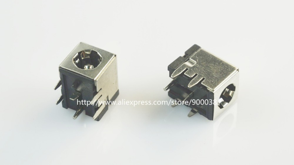 100pcs Power Socket 5A current 5 5x2 0 mm DC Power Jack Male connector right angle