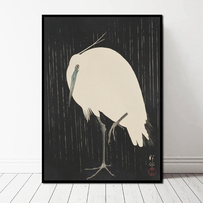 ARTCANVAS White Rabbit Canvas Art Print by Ohara Koson
