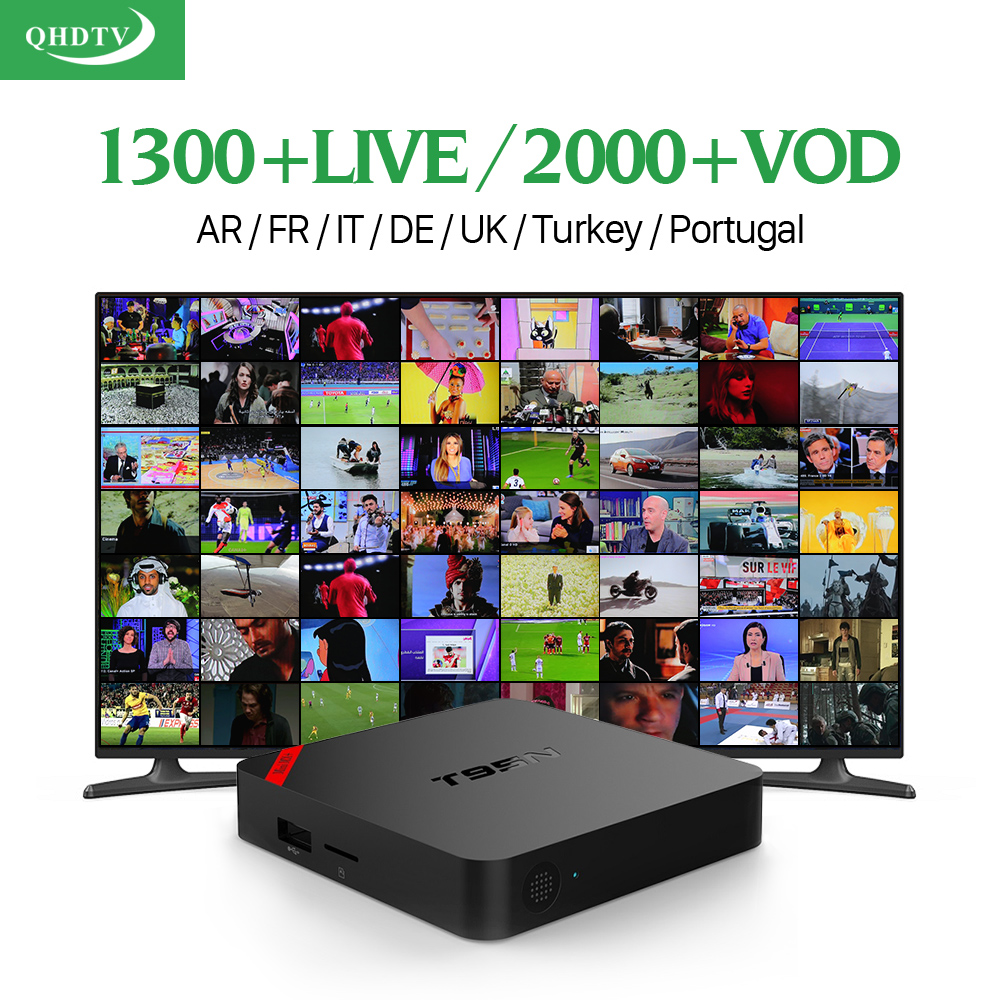 Dalletektv T95N Android 6.0 TV Box Amlogic 1300 IPTV 1 Year QHDTV Subscription Europe French Arabic Italia Channels IPTV Top Box x92 android iptv box s912 set top box 700 live arabic iptv europe french iptv subscription 1 year iptv account code