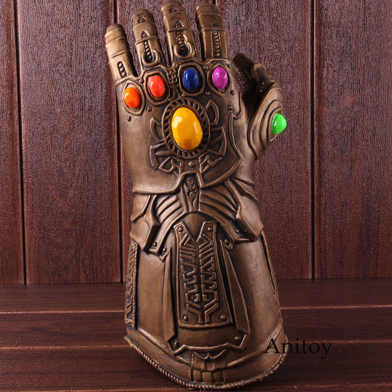 Avengers Endgame Infinity Gauntlet Thanos Cosplay Glove with LED Light PVC Action Figure Thanos Glove Collectible Model Toy 1
