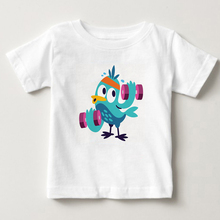 Hot sale child clothing baby boy girl t shirts Bird cloud rainbow t shirt Fashion Summer Kids wear Funny bird children T-shirt