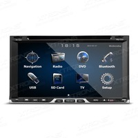 6.951080P Video Double Din Car DVD GPS Player 2 Din Car Radio with External DVR/Microphone & Android Screen Mirroring Support
