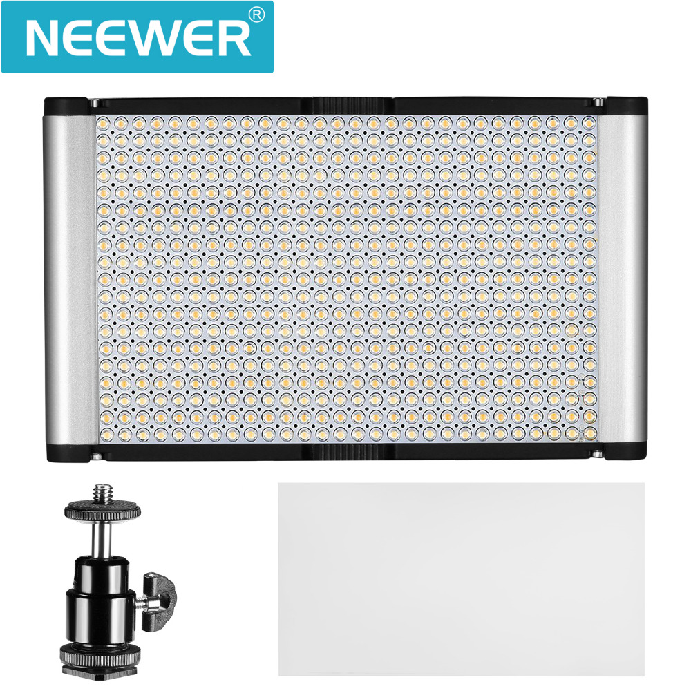Neewer Dimmable Bi-color LED with Standard Cold Shoe Professional on Camera Video Light for Portrait Product Photography/Studio new godox 308c bi color dimmable 5500k 3300k led video led video studio light lamp professional video light with remote control