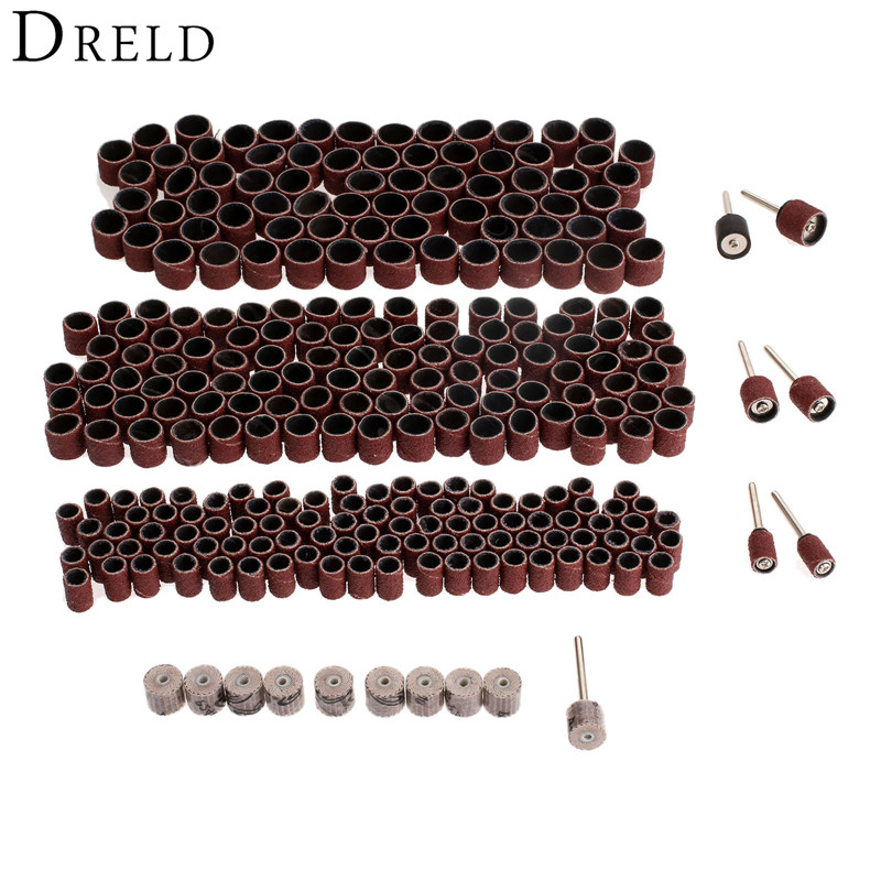 317Pcs Dremel Accessories Grit 240 10x10x3mm Sanding Flap Wheel Rotary Tools Abrasive Sanding Paper Grinding Polishing Disc 10pcs dremel accessories sandpaper sanding flap polishing wheels sanding disc set shutter polishing wheel for rotary power tools