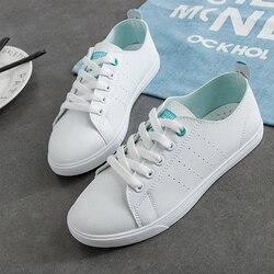 WAWFROK/женская повседневная обувь; сезон лето-весна 2018; женская обувь на плоской подошве; Модные дышащие женские кроссовки на шнуровке