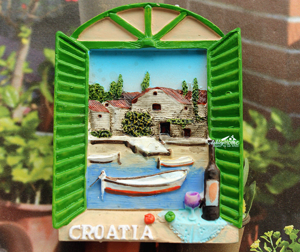 Holiday In Croatia Tourist Travel Souvenir 3D Resin
