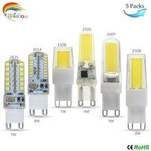 Led-Lamp-Light Chandelier Replace Led-Bulb Crystal Dimmable G9 220V DC12V Cob SMD2835