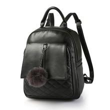 Новый дизайнерский бренд 2017 опрятный Рюкзаки Для женщин Bagpack PU кожа Школа Сумки на плечо студент кошелек Обувь для девочек черный, красный рюкзак