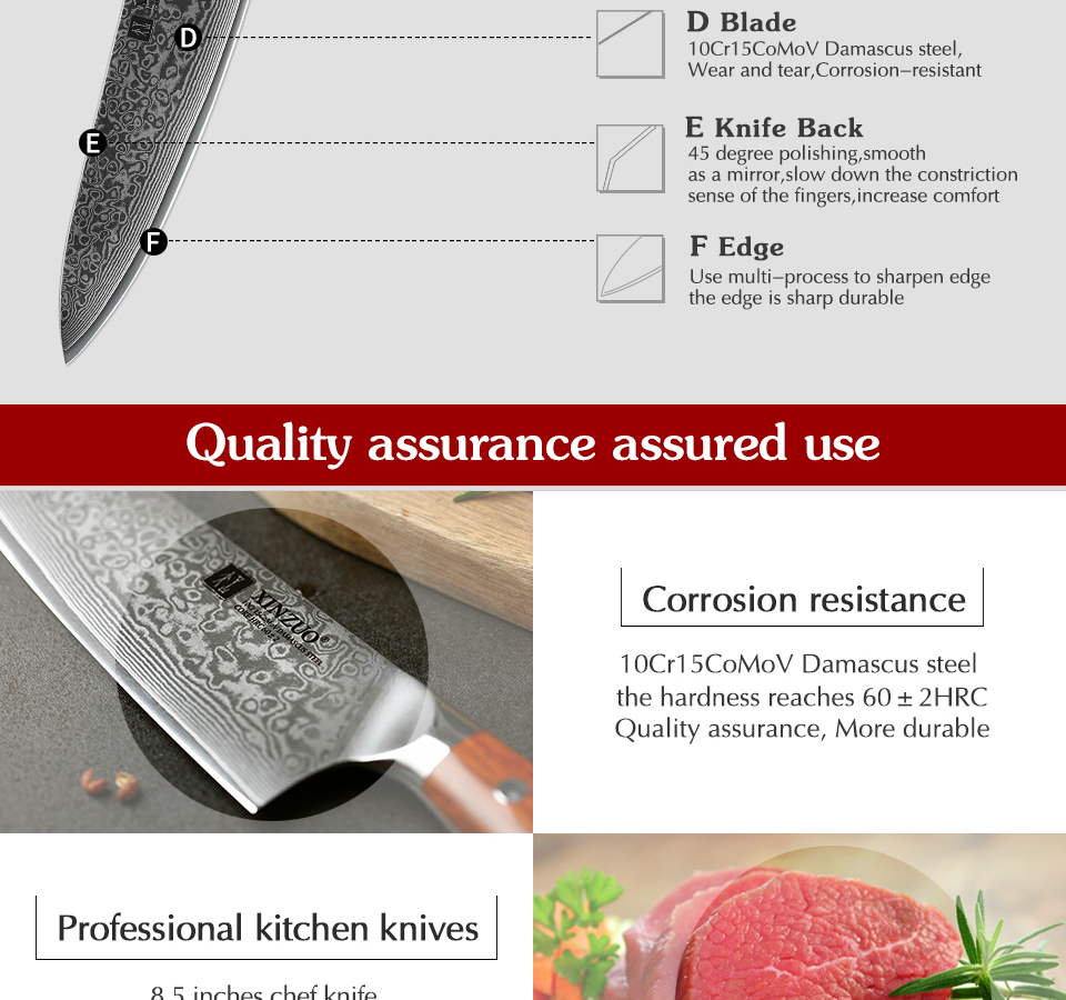 japonês damasco forjado faca de cozinha aço
