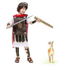 Halloween childrens performance costumes boy Rome Spartan warrior Prince Gladiator cosplay Hero of Sparta