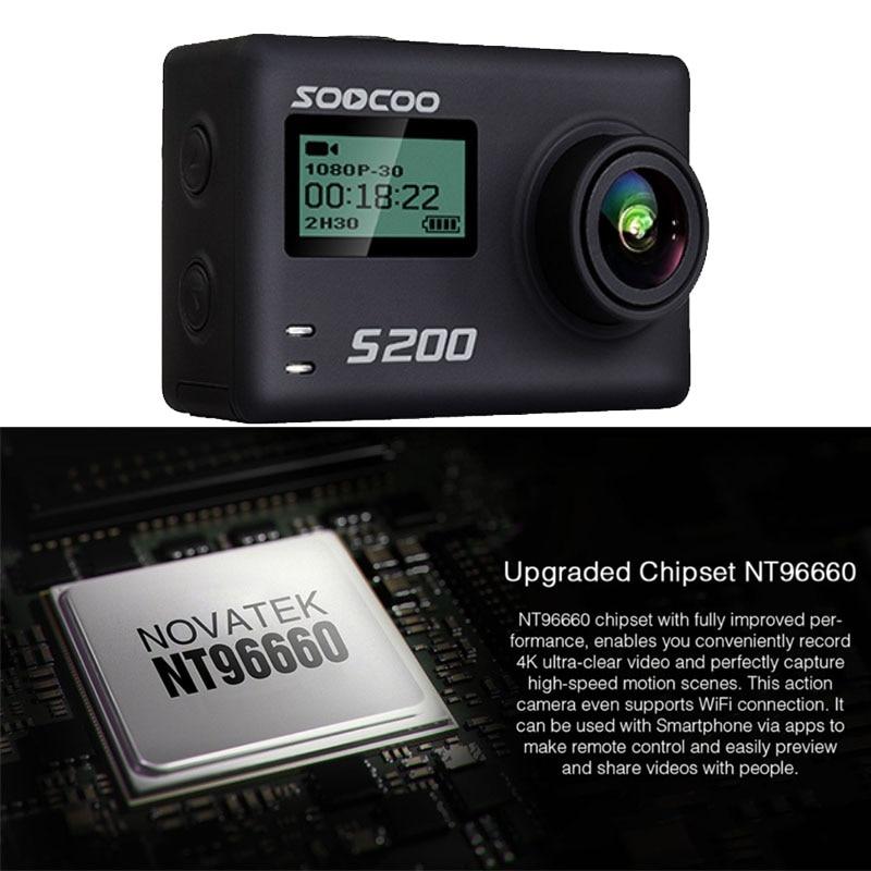 SOOCOO S200 Action Sport Caméra Ultra HD 4 K 20MP NTK96660 Puce Cam IMX078 Capteur WiFi Gyro Contrôle Vocal Micro GPS Tactile Écran LCD - 5