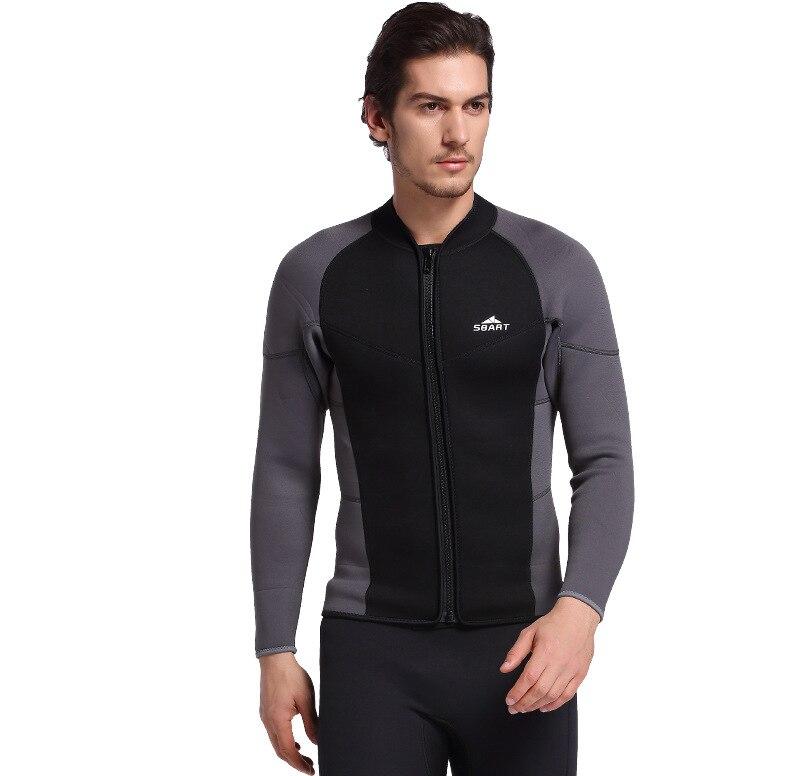 3MM Neoprene Long Sleeved Jumpsuit For Men Wetsuit Scuba Dive Jacket Wet Suit Top Winter Swim Warm Surf traje de neopreno