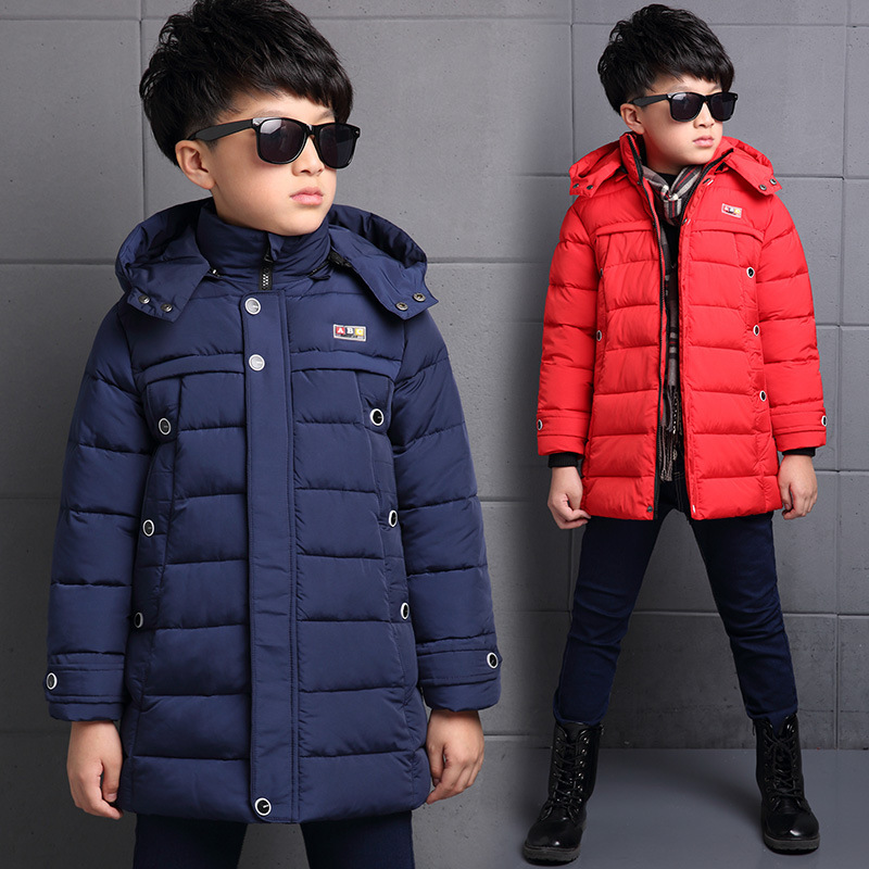 ФОТО Children's cotton coat thickening 2017  winter baby long cotton jackets Outwear 6-13 years