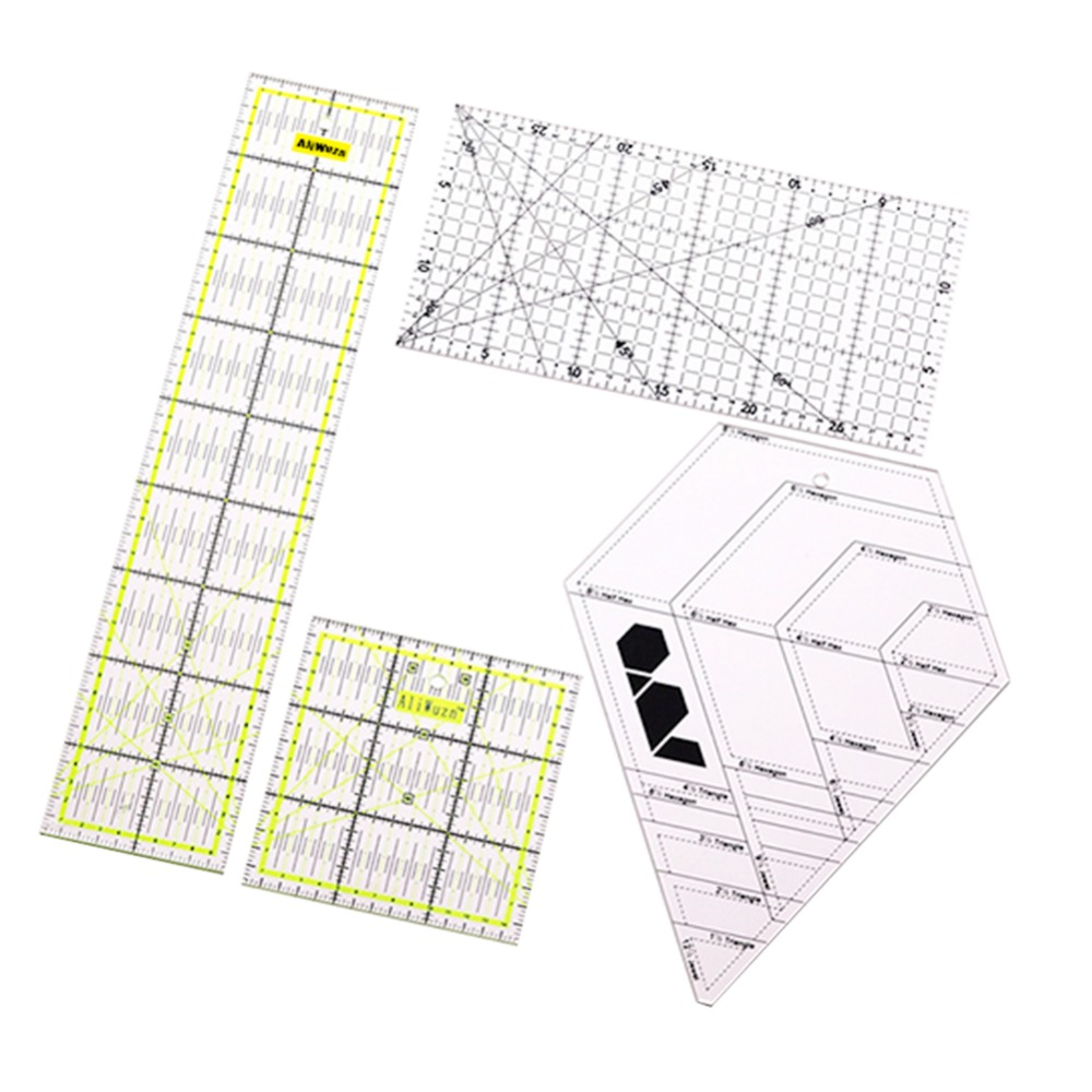 Patchwork Ruler 4 Style Mixed Sales China Taiwan Acrylic Material Standard Scale Patchwork Ruler Four Kinds Of Styles Available