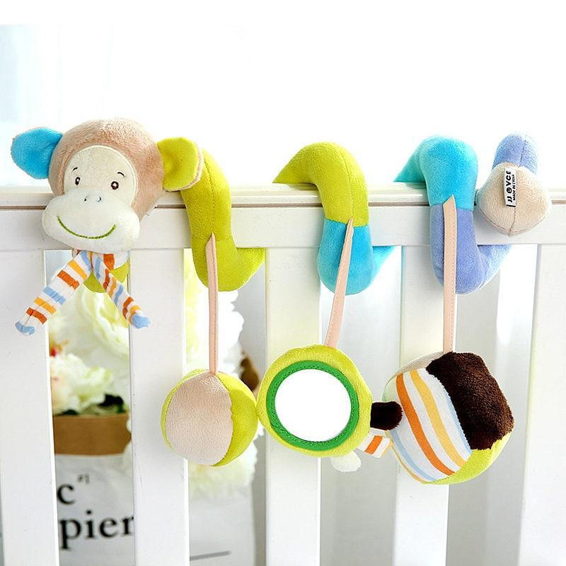 Нові дитячі коляски висячі іграшки музичні брязкальце мобільний для дитячих ліжечок на ліжко освітні діти дитячі іграшки для новонароджених 0-12 місяців  t