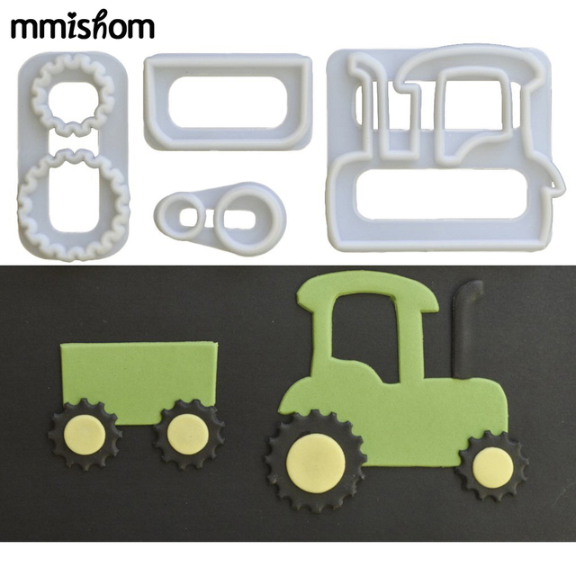 4 Stucke Sugarcraft Traktor Auto Zug Set Kunststoff Fondant