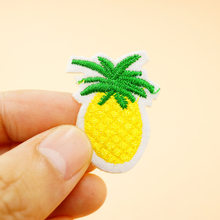 Pineapple Size:2.7x3.5cm Cloth Badges Mend Decorate Patch Jeans Bag Hat Clothes Apparel Sewing Decoration Applique Patches(China)