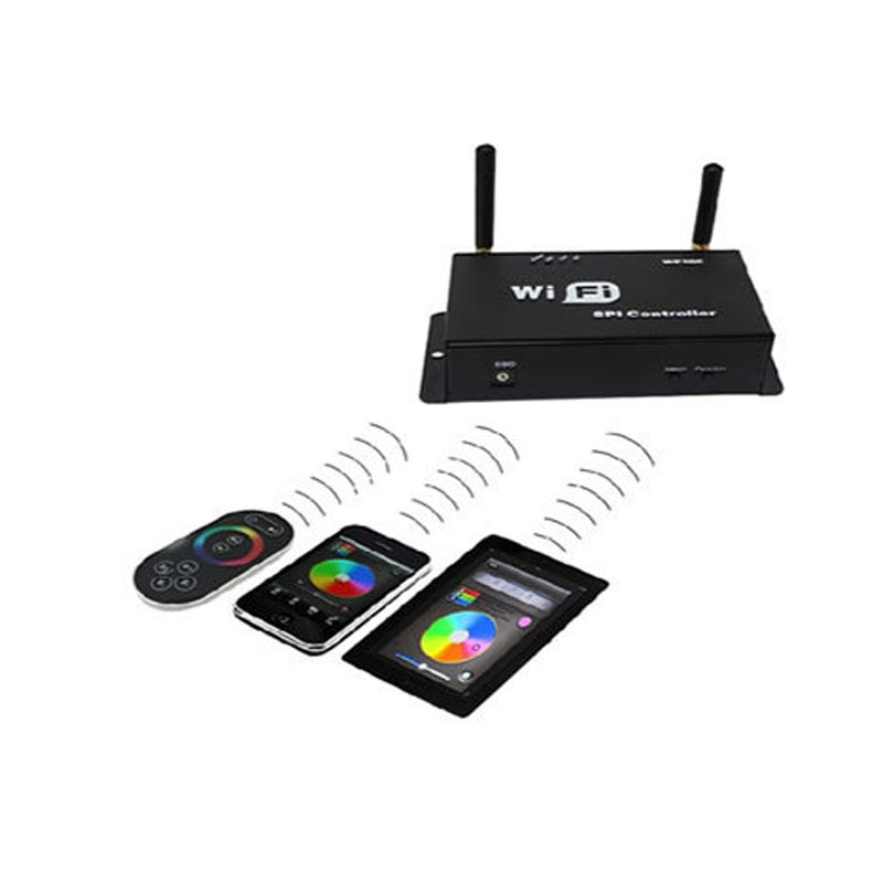 LED WiFi SPI Controller for LPD6803 TM1809 WS2801 WS2811 TLS3001 UCS1903 etc IC dream color Strip  lights
