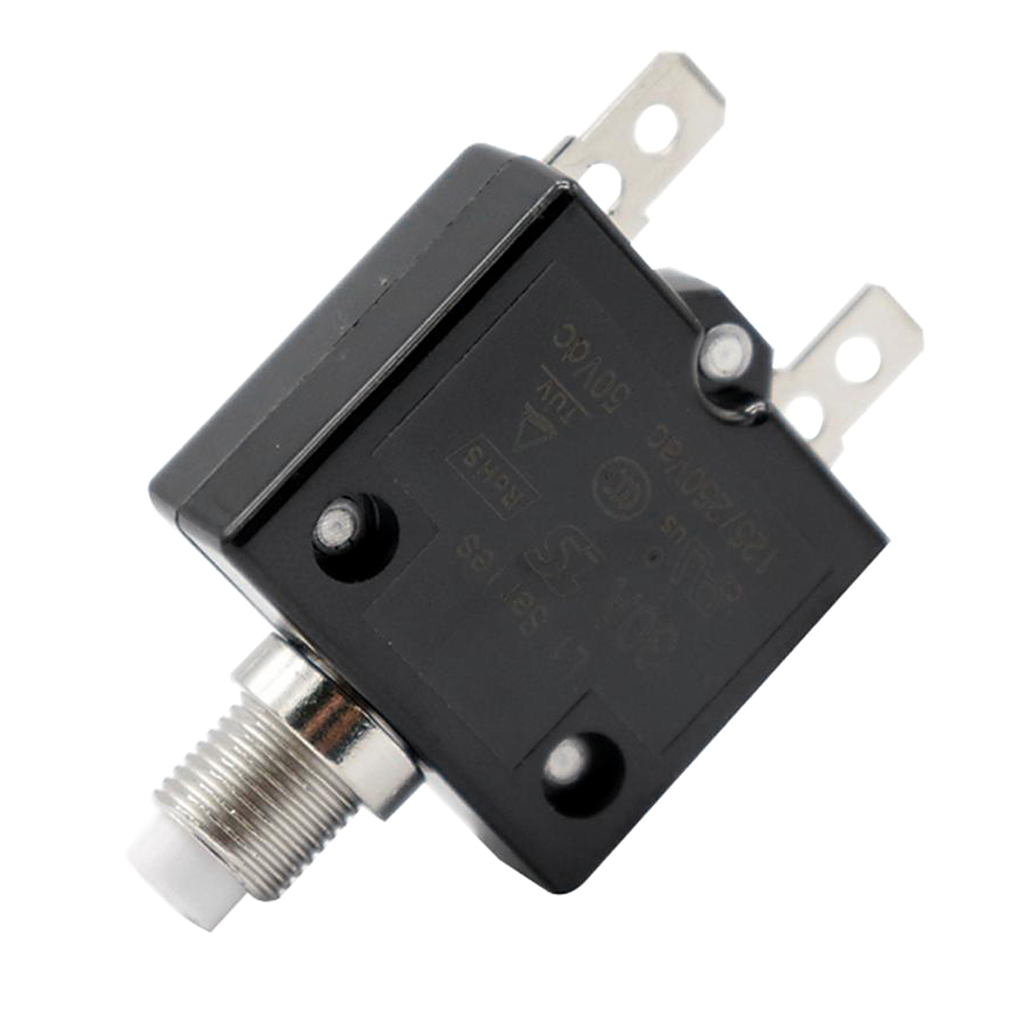 Image 5 - 1 Pcs 30A Circuit Breaker 12V/24V Push Button Resettable Thermal Circuit Breaker Panel Mount For Auto/Industrial/Marine Etc-in Fuses from Automobiles & Motorcycles