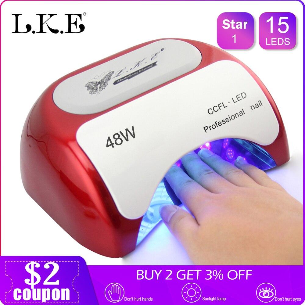 Kunst Uv W Trockner Lampe Mit Sensor Lke Werkzeuge Ccfl Automatische Led 48 Nagel Für Gel Curing 4ARjL35