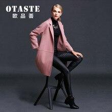 Pop Brand Nice Autumn Winter Fashion Women New Overcoat Medium Long High Quality Duplex Wool Coat Loose Woolen Coat Women LC1118