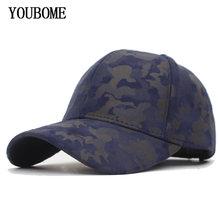 YOUBOME hombres gorra de béisbol camuflaje cuero Snapback Gorras mujer  sombreros para hombres PU Casual camionero 03604f11caf