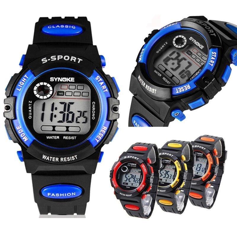 Fashion Children Watches Waterproof Child Boys Sports Electronic Quartz Watch Kids Gift Watch LL все цены