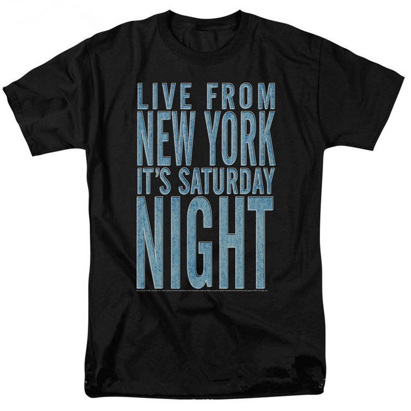Cool Graphic Tees Crew Neck Design Short Sleeve Night Live ItS Saturday Mens T Shirts
