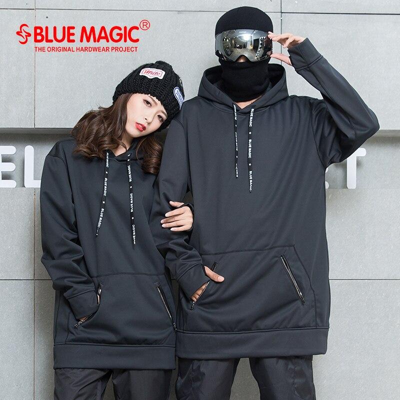 Bluemagic סנובורד רך פגז בשילוב בד ארוך הסווטשרט נשים & גברים עמיד למים חולצות רוח הוכחת סקי חליפות
